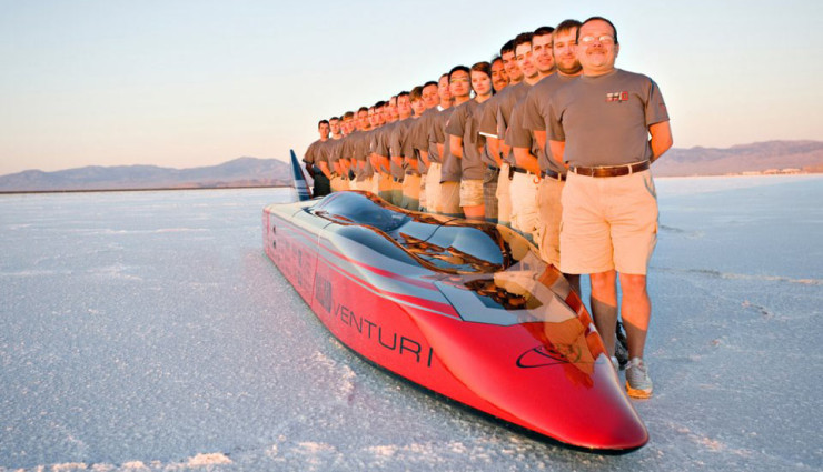 Venturi-VBB-3-Elektroauto-Geschwindigkeitsrekord-Team