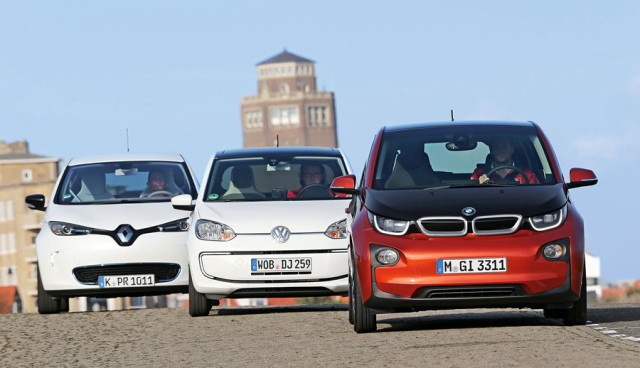 BMW i3, VW e-up, Renault ZOE  Test