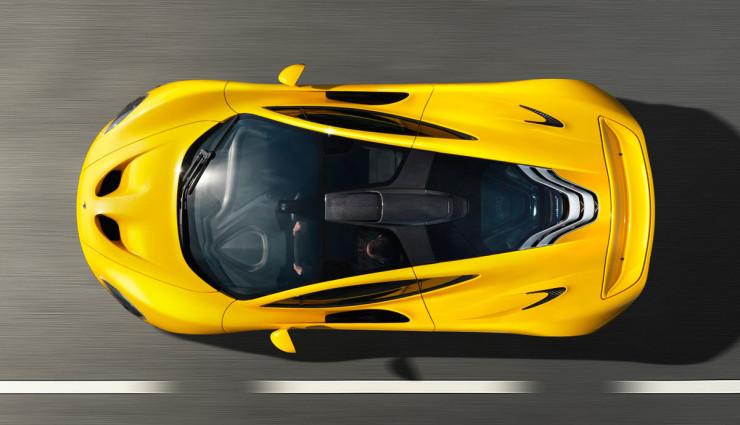 McLaren-P1-Hybridsportwagen-Oben,-Dach