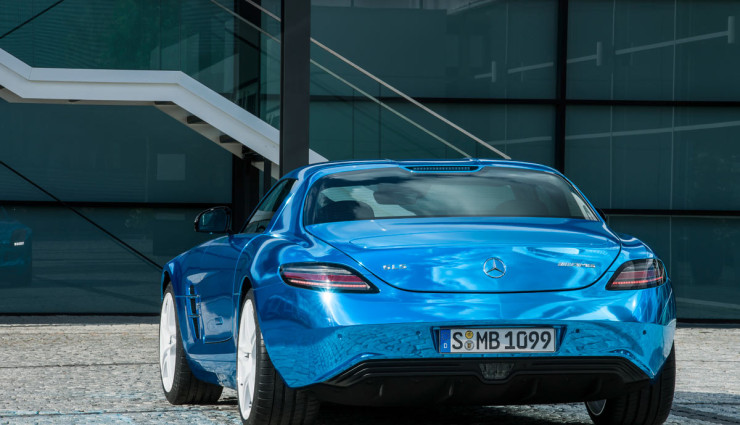 Mercedes SLS AMG Electric Drive Heck 2