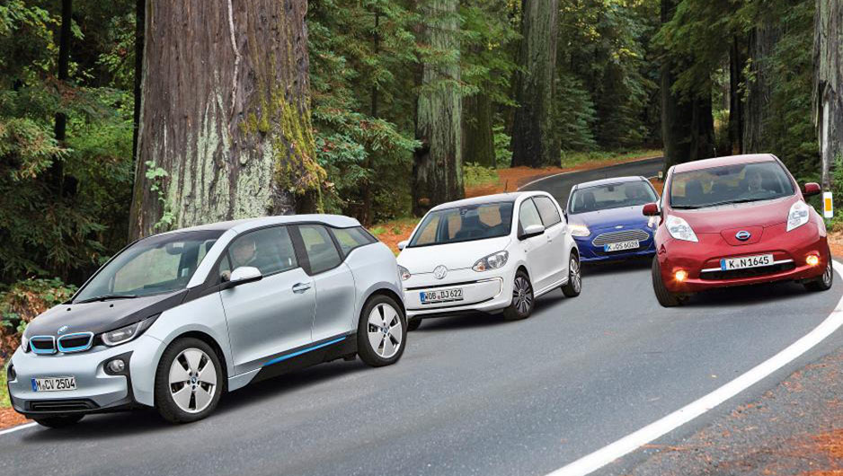 BMW-i3-Ford-Focus-Electric-Nissan-Leaf-VW-e-UP-Elektroautovergleich