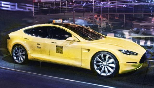Tesla-Taxi-Muenchen,-Deutschland