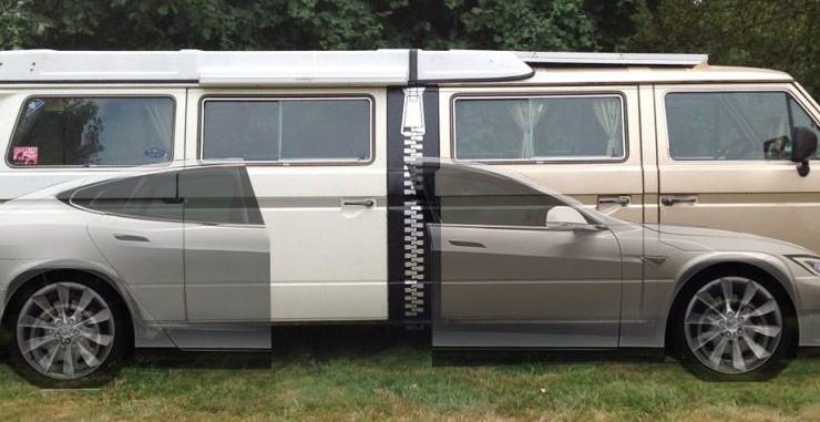 vw camper mit elektroantrieb von tesla der stretchla. Black Bedroom Furniture Sets. Home Design Ideas