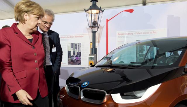 Elektroauto-Bundesregierung-Fuhrpark-Merkel