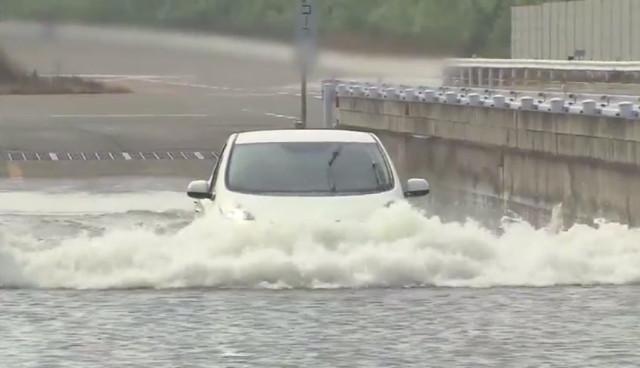 Elektroauto Nissan LEAF Wasser