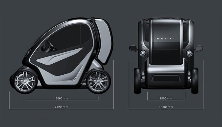 Elektroauto-Rollstuhlfahrer-Equal-Abmessungen