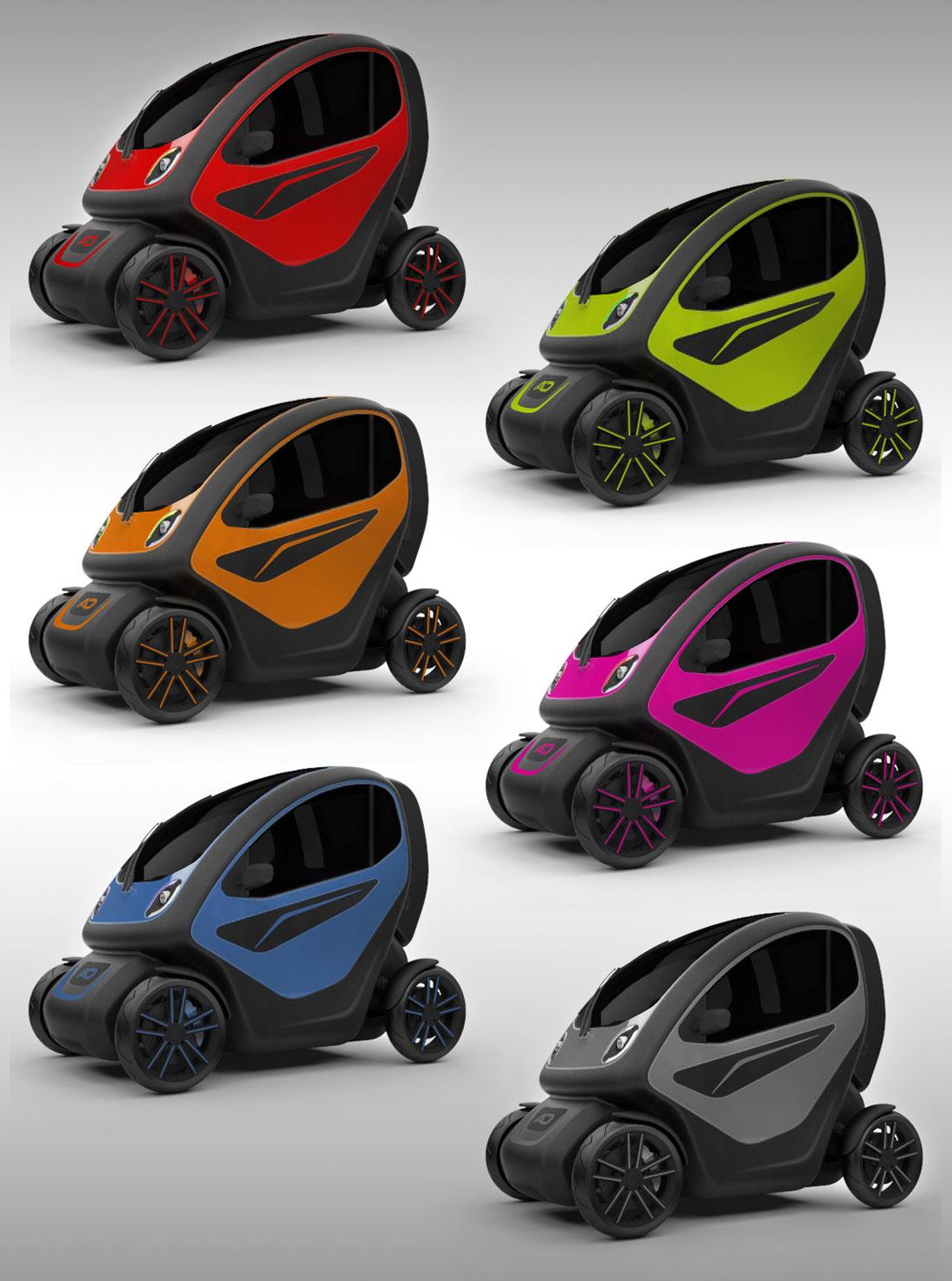 Elektroauto-Rollstuhlfahrer-Equal-Farben-1