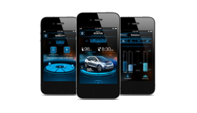 Elektroauto-Smartphone