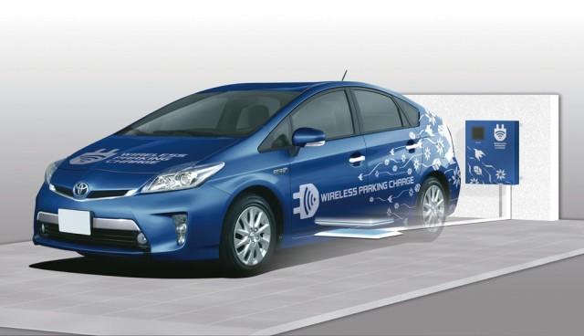 Elektroauto kabellos Laden Toyota