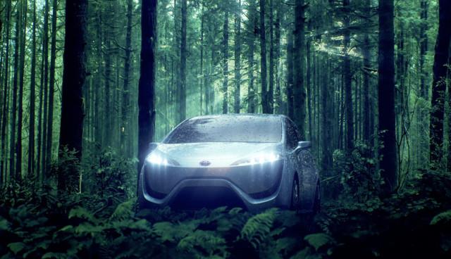 Wasserstoffauto-Toyota-FCV-Elektroauto