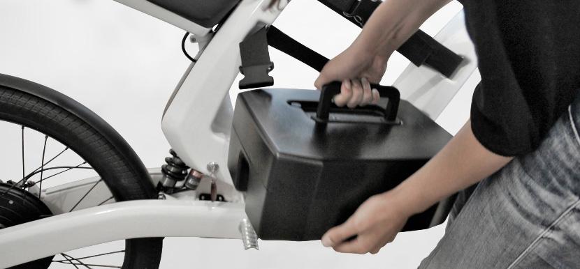 Elektro-Bike Feddzs-Batterie