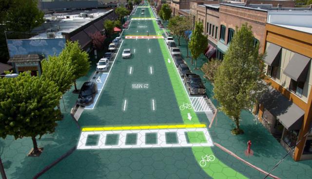 Solar-Roadways-Strasse