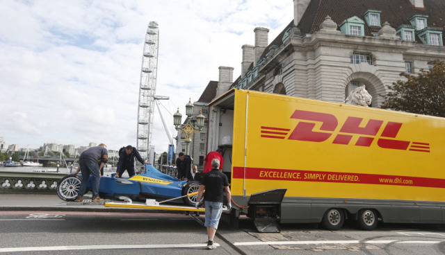 Deutsche-Post-Formel-E-Transport