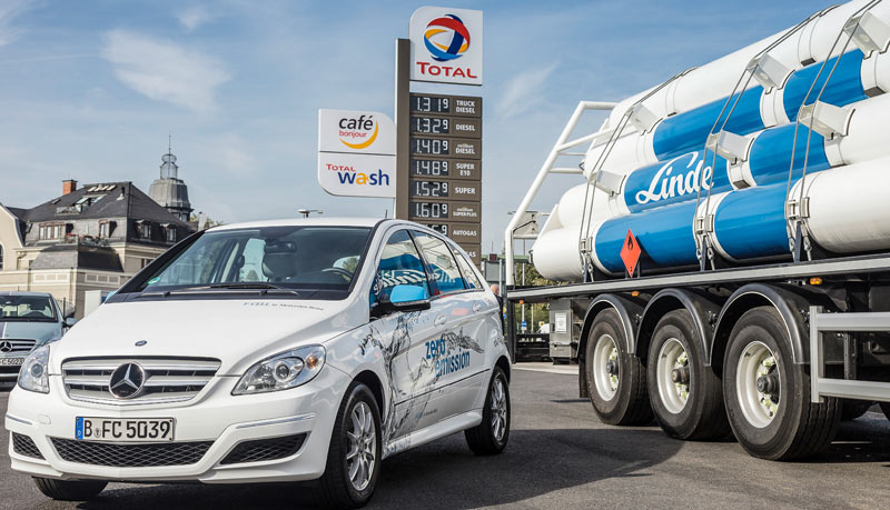 Mercedes-Linde-Wasserstoff-Tankstellen