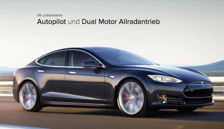 """""""D"""": Tesla stellt Model S mit Allradantrieb & Autopilot vor (Bilder & Video)"""