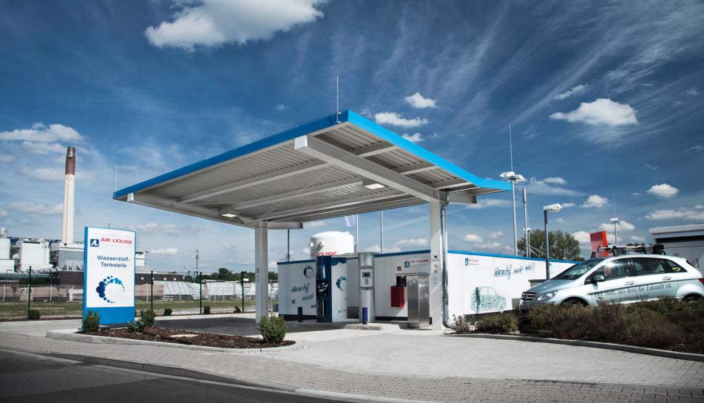 Wasserstofftankstellen-Elektroauto