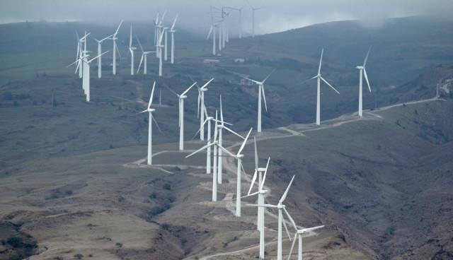 Elektroauto-Windkraft-Strom
