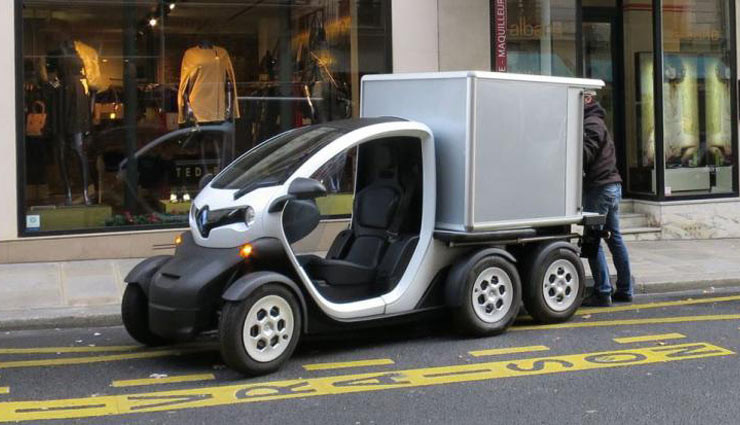 renault twizy concept der mini elektrotransporter in aktion. Black Bedroom Furniture Sets. Home Design Ideas