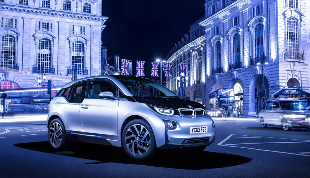 Elektroauto-Werbung