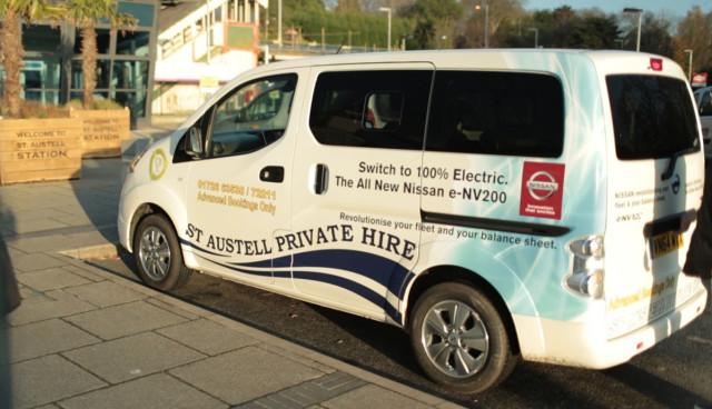 Elektroauto Taxi Nissan e-NV200 sparen