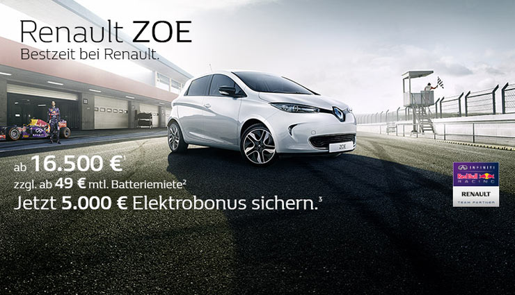elektroauto renault zoe 5000 euro g nstiger. Black Bedroom Furniture Sets. Home Design Ideas
