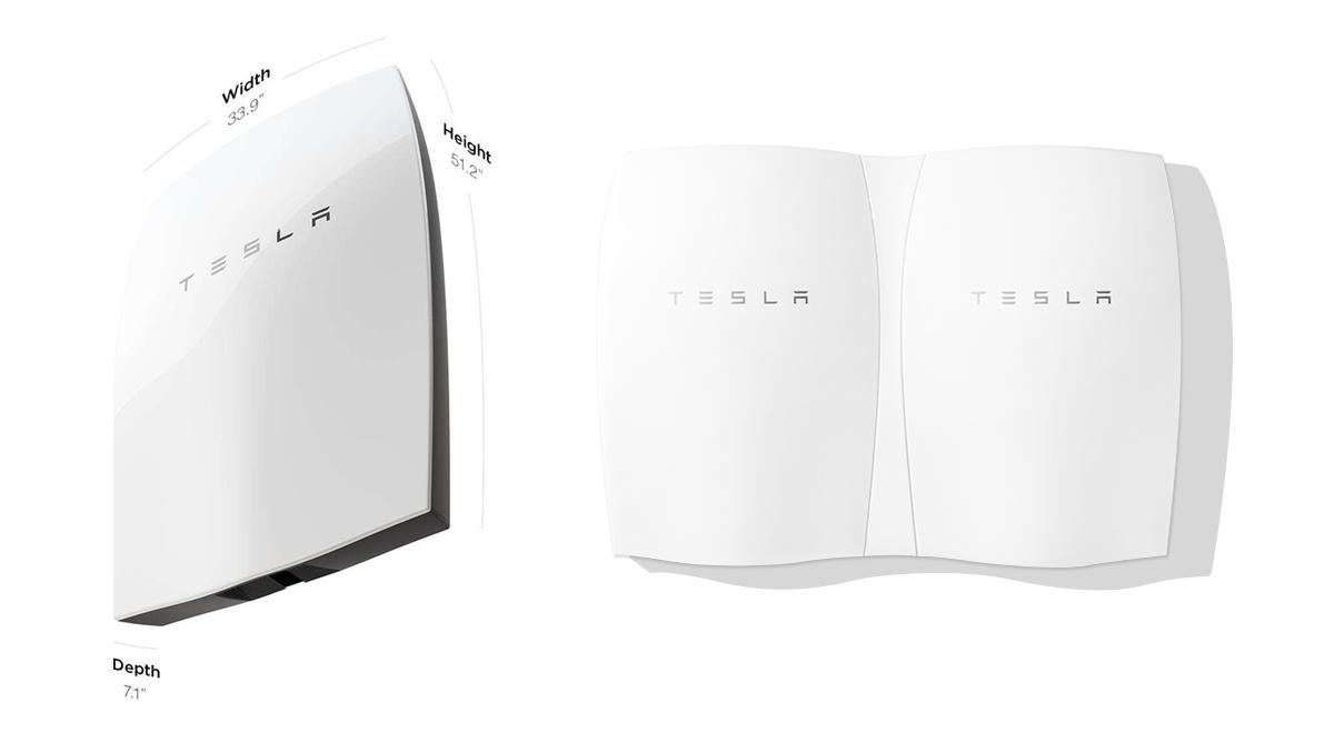 Tesla PowerWall Batterie-Speicher Masse