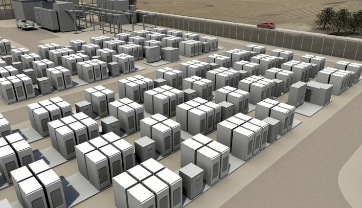 Tesla PowerWall Batterie-Speicher groß