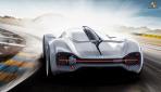Porsche Elektroauto Rennwagen Le Mans 2035 -