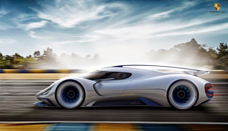 Porsche Elektroauto Rennwagen Le Mans 2035 – 2