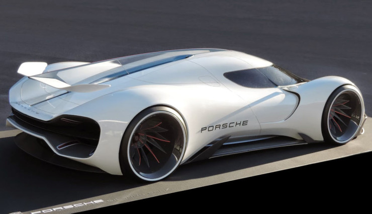 Porsche Elektroauto Rennwagen Le Mans 2035 – 6