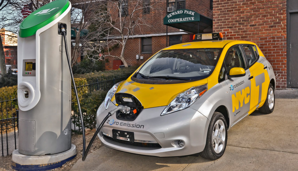 selbstfahfrendes Elektroauto-Taxi