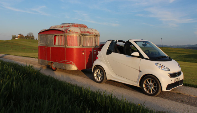 Elektroauto-Camping