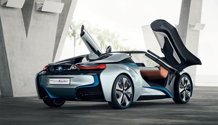 BMW i8 Spyder Plug-in-Hybrid-Sportwagen Serienversion14