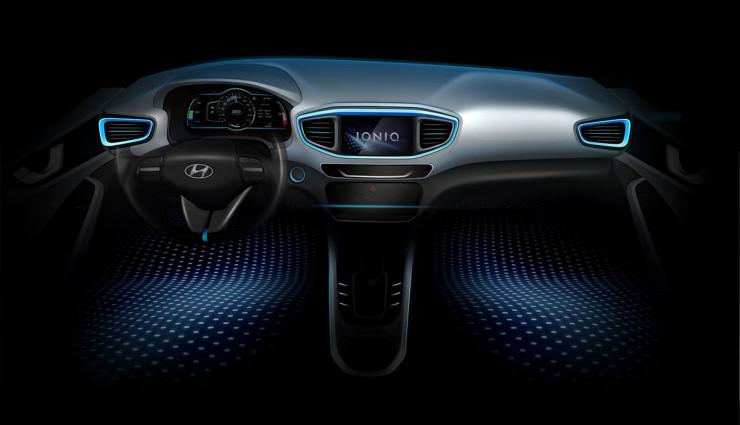 Hyundai-IONIQ-Elektroauto Innen