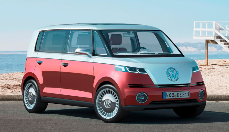 VW Elektroauto Bulli Transporter