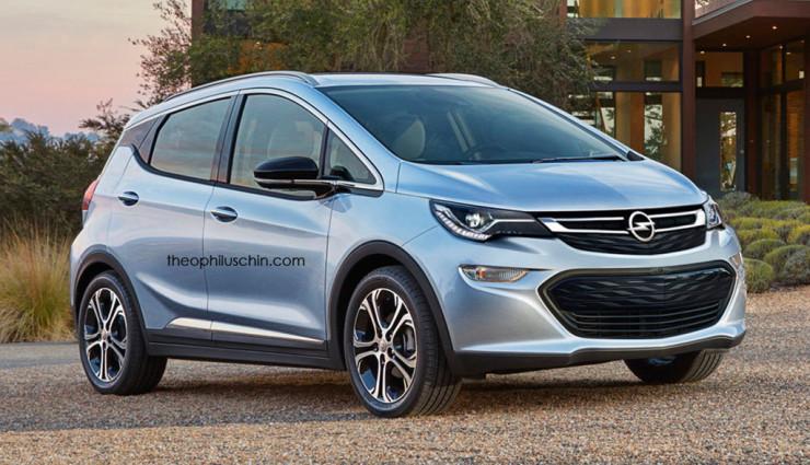 Elektroauto Opel Bolt gerendert