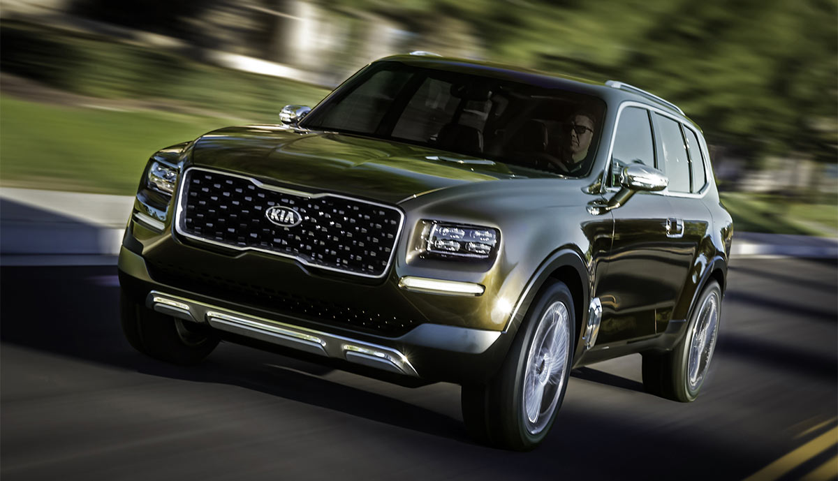 kia telluride plug in suv mit gro em durst bilder. Black Bedroom Furniture Sets. Home Design Ideas