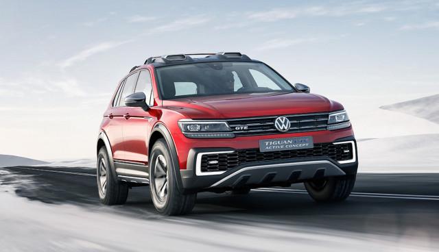 VW zeigt weiterentwickelte Tiguan GTE-Studie in Detroit (Bilder)