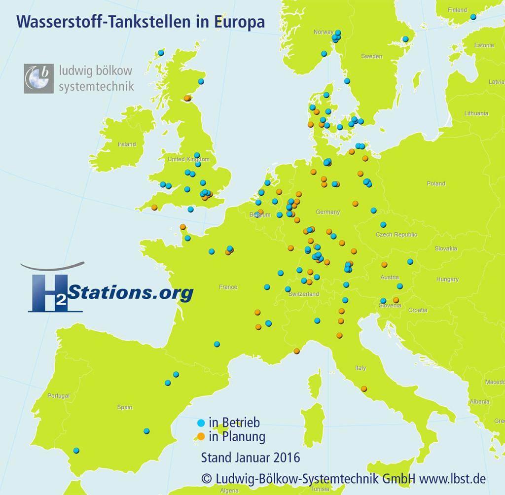 Wasserstofftankstellen-Anzahl-Europa
