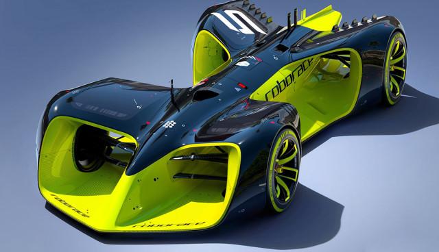 Formel-E-Robocar-Elektroauto-Rennwagen