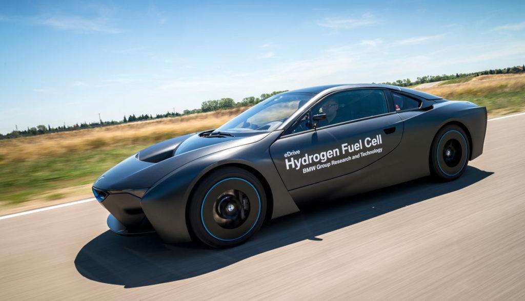 BMW i8 Elektroauto Wasserstoffantrieb