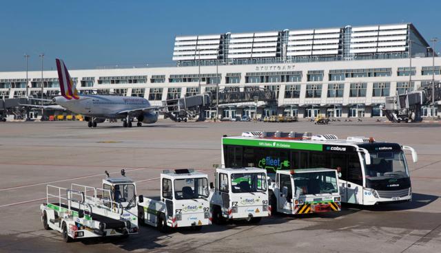 Elektroautos-Flughafen-Stuttgart
