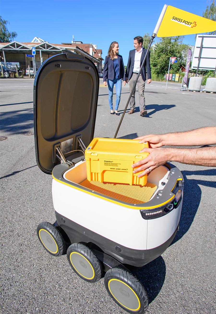 Schweizer-Post-testet-autonome-Elektro-Paketroboter