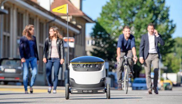 Schweizer Post testet autonome Elektro-Paketroboter