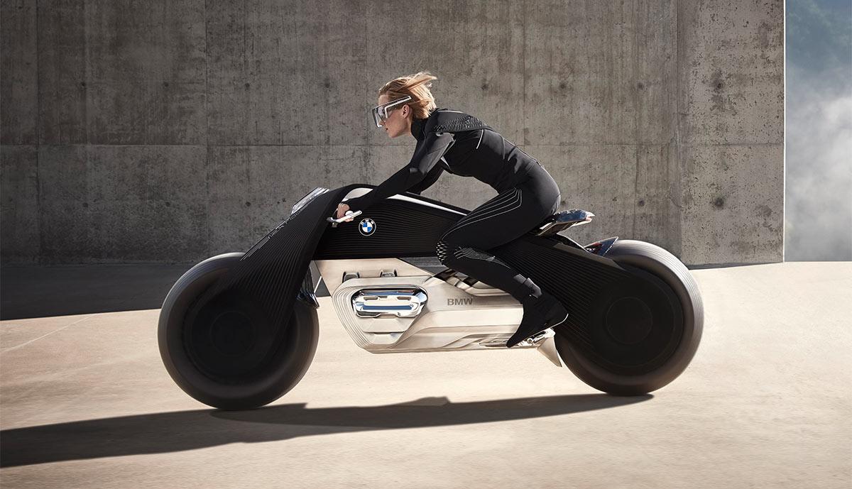 bmw stellt emissionsfreies motorrad vision next 100 vor. Black Bedroom Furniture Sets. Home Design Ideas