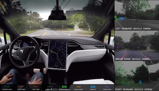 Teslas Selbstfahr-Elektroautos in Aktion (Videos)