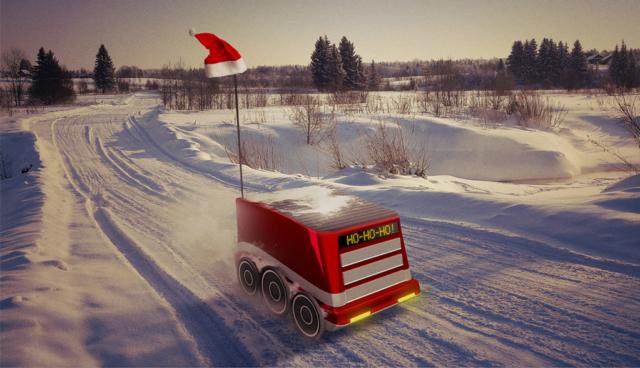 Letzte Meile: Wenn der Elektro-Roboter das Weihnachtspaket bringt