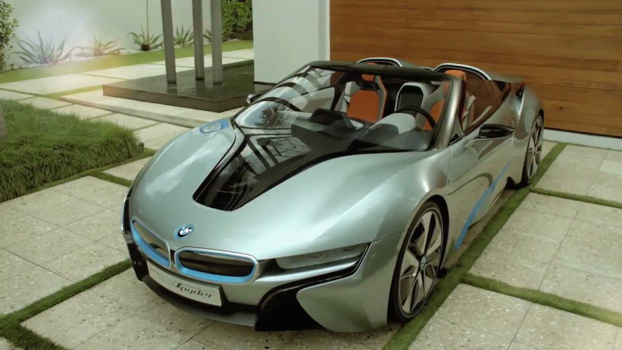bmw i8 spyder neues hochglanz video des plug in. Black Bedroom Furniture Sets. Home Design Ideas