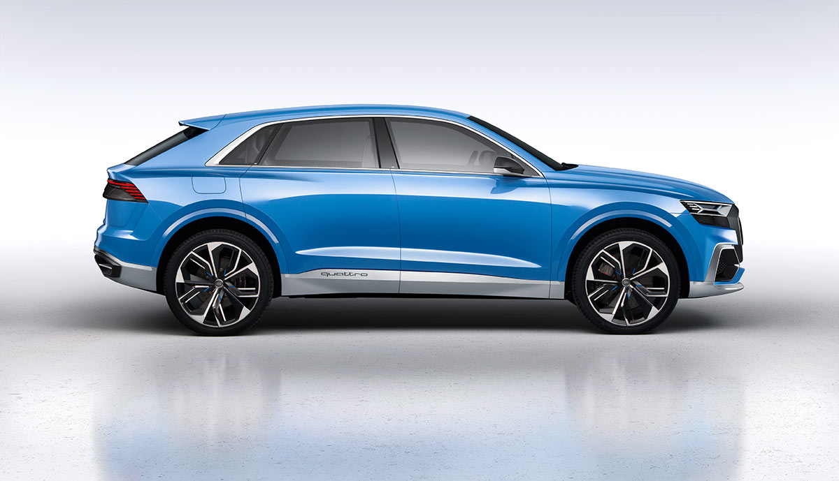 audi q8 plug in hybrid suv mit 60 km elektro reichweite. Black Bedroom Furniture Sets. Home Design Ideas