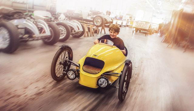Morgans Elektroauto-Threewheeler EV3 gibt es jetzt auch für Kinder